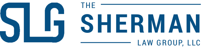 The Sherman Law Group logo blue